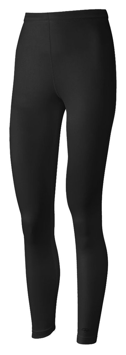 Duofold Women's Mid Weight Varitherm Thermal Leggings, Black, Medium