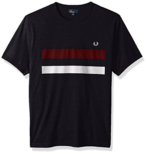 Discount Fred Perry Men's Bold Print Tipped T-Shirt hot sale