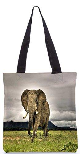 """Snoogg Elefantenbaby Folgende Tragetasche 13,5 X 15 In """"Einkaufstasche Dienstprogramm Trage Von Polyester Canvas"""