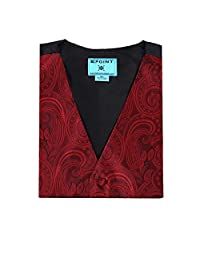 Epoint EGC1B01C-L Dark Red Patterned Gift For Bridegrooms Waistcoat Woven Microfiber Discount Gifts Large Vest