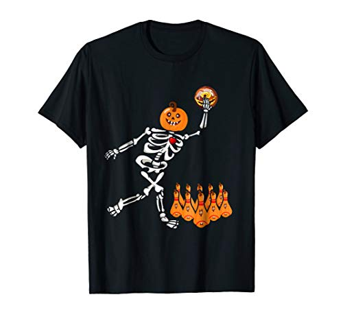 Bowling Skeleton Bone Halloween Shirt -