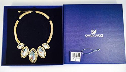 Swarovski-Collier Femme-Cristaux Transparents en Pvd Or Citrus taille L 38cm Réf 5113421
