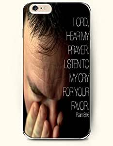iPhone 6 Case,OOFIT iPhone 6 (4.7) Hard Case **NEW** Case with the Design of lord hear my prayer listen to my cry for your favor Psalm 86:6 - Case for Apple iPhone iPhone 6 (4.7) (2014) Verizon, AT&T Sprint, T-mobile wangjiang maoyi