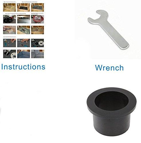 Pofuzen Linear Shower Drain Base (flange) with Rubber Gasket. Linear drain kit, ABS Base, PVC Flange - Ideal for Tile Insert Floor Drains - Compatible with 36 inch and 48 inch Linear Drains by Pofuzen (Image #4)