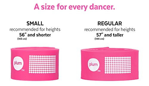 The PlumBand Stretch Band for Dance and Ballet - Colors and Sizes for Kids & Adults - Improve Your Splits, Strength, and Flexibility with Stretching - Printed Instruction Booklet and Travel Bag