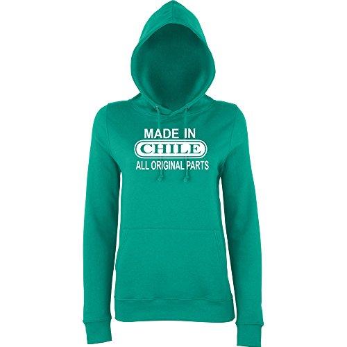 Daataadirect - Sudadera con capucha - para mujer verde jade