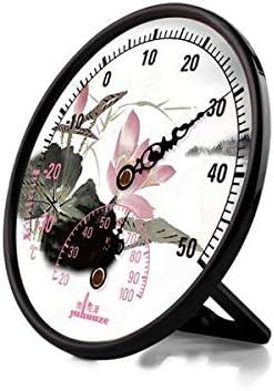 QIANZICAI 温度計、温度計、湿度計のポインタ、屋内と屋外のデスクトップ垂直温度計オフィスホーム キッチン温度計 (Col