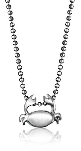 """Alex Woo """"Little Signs"""" Sterling Silver Crab (Cancer) Pendant Necklace, 16"""""""
