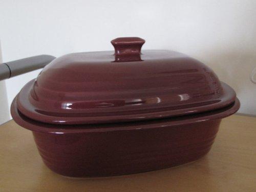 Pampered Chef Deep Covered Baker 4-Quart, Cranberry, 1321
