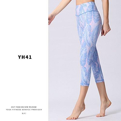 MAOYYMYJK Yoga-Hose Für Damen Frühling Und Sommer Nahtlose Yoga Hosen Weibliche Hohe Taille Engen Digitaldruck Tanz Hosen Sport Fitness Kurze Hosen