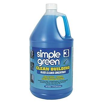 Simple verde 11301 Clean edificio vidrio limpiador concentrado, sin aroma, 1 gal botella (