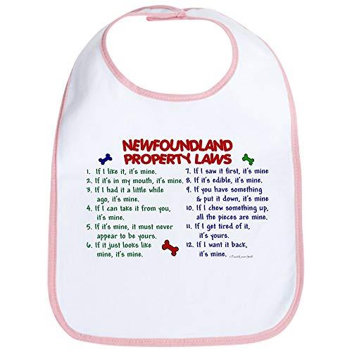 CafePress Newfoundland Property Laws 2 Bib Cute Cloth Baby Bib, Toddler Bib