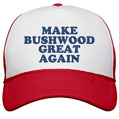 FUNNYSHIRTS.ORG Make Bushwood Great Again Hat: Snapback Trucker Hat White/Red]()