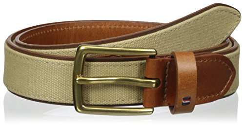 Tommy Hilfiger Men's 1 1/4 in. Belt with Overlay Panel