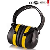 Hearing Protection Earmuffs Ear Protectors SNR 34dB Professional Ear Defenders Insulation Adjustable Headband Padded Noise Reduction for Work Construction Drilling Hunting Mowing