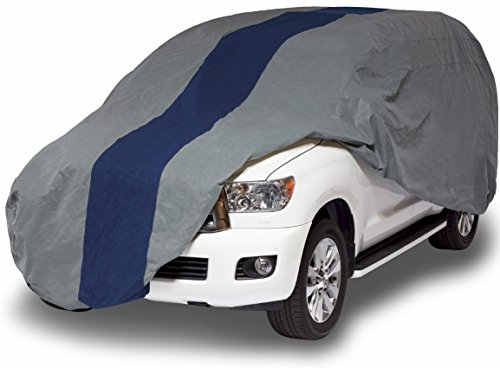 Duck Covers A2SUV210 Double Defender SUV Cover for SUVs/Pickup Trucks with Shell or Bed Cap up to 17' 5