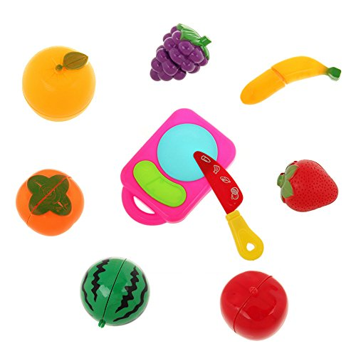 Kitchen Fruit Vegetable Food Children Kid Educational Toy Cutting Set Pretend Role Play