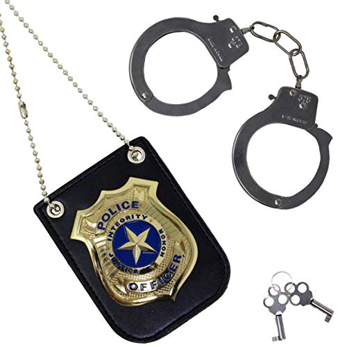 Spooktacular Creations Police Pretend Play Toy Set for School Classroom Dress Up Pretend Play, Detective Role Play Accessory, Stocking, Birthday Party Favor Supplies -