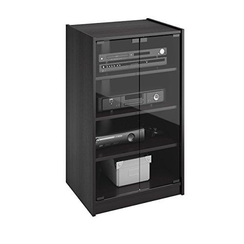 Glass Doors Shield Sonax Cranley Wood Midnight Black 21-inch