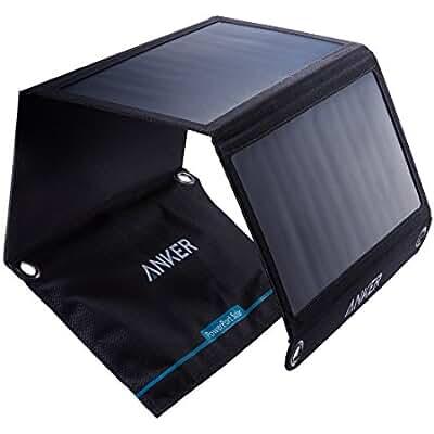 Anker 21W Dual USB Solar Charger, PowerPort Solar for iPhone 7 / 6s / Plus, iPad Pro / Air 2 / mini, Galaxy S7...