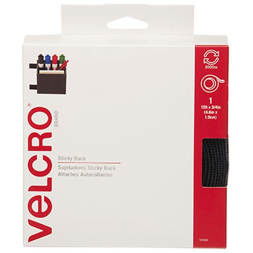 VELCRO Brand - Sticky Back Hook and Loop Fasteners| Perfect for Home or Office |  15ft x 3/4in Tape | Navy