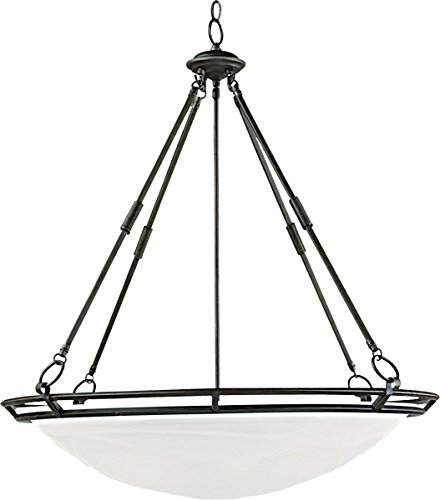 Pendants 6 Light Bulb Fixture with Bronze Finish Iron Material Medium Bulbs 28 inch 600 Watts