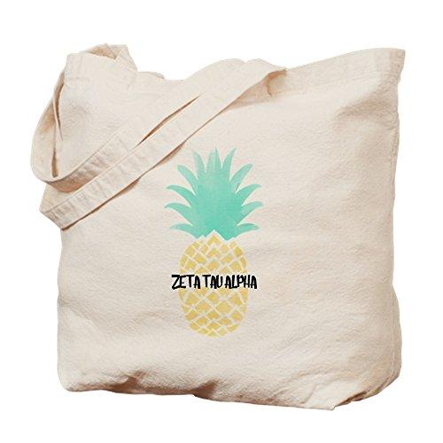 CafePress - Zeta Tau Alpha Pineapple ZTA - Natural Canvas Tote Bag, Cloth Shopping Bag Sis Custom Fabric