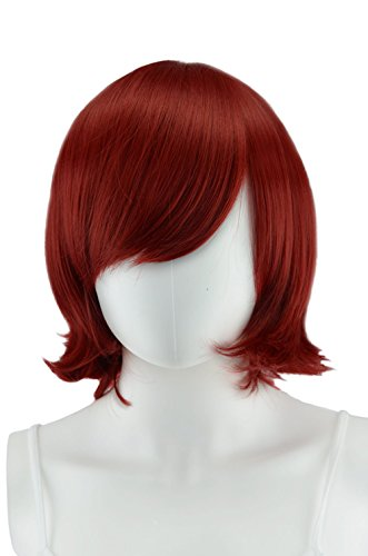 Epic Cosplay Chronos Dark Red Cosplay Wig 14 Inches (02DR)]()