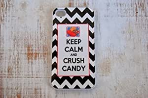 (Deb001) Candy Crush For Apple Iphone 5C Case Cover white Clear Case
