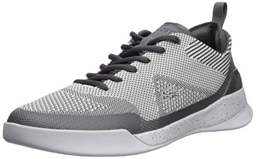 Lacoste Mesh Sneakers - Lacoste Men's LT Dual Elite Sneaker, Dark Grey, 10 M US