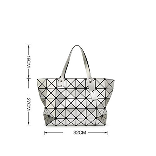 Rubik's Pack Trend Variety Face Handbag Purple Japanese Ladies Shoulder 8 Folding Patent Handbags Cube Bag Geometry 7 Leather Lingge Bright w77pSqf
