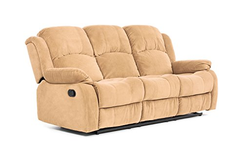 Classic Traditional Brush Microfiber Recliner