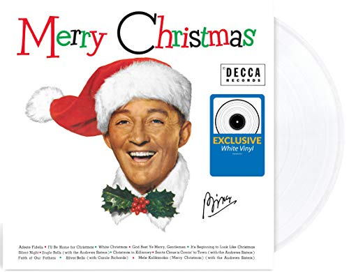 Merry Christmas - Exclusive Limited Edition White Colored Vinyl LP [Condition-VG+NM] (Christmas Record Merry Bing Crosby)