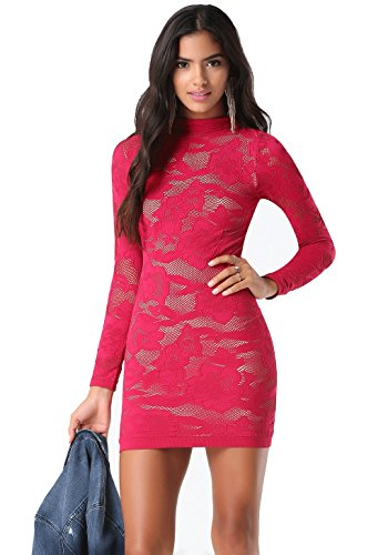bebe-fuchsia-all-over-lace-dress-mini-pencil-party-evening-dress-for-casual-or-special-occasions-xs-