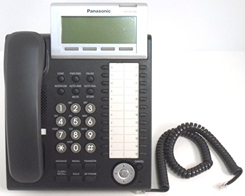 Price comparison product image Panasonic KX-NT346-B 6-Line Backlit LCD Display 24 Button Phone - Charcoal (New)