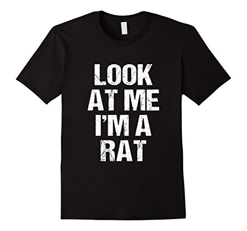 Mens Funny I'm a Rat Costume Shirt Halloween Kids Adults 2XL Black