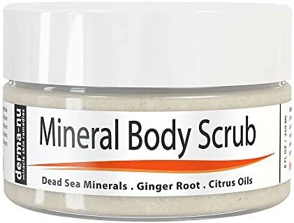 Exfoliating Dead Sea Salt Scrub - Exfoliate Face, Body & Hands - Body Scrub Cleanses, Detoxifies and Mineralizes - Leaves Skin Soft and Smooth - 8oz