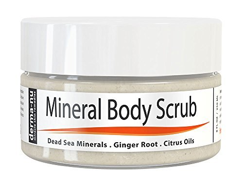 (Exfoliating Dead Sea Salt Scrub - Exfoliate Face, Body & Hands - Body Scrub Cleanses, Detoxifies and Mineralizes - Leaves Skin Soft and Smooth - 8oz )