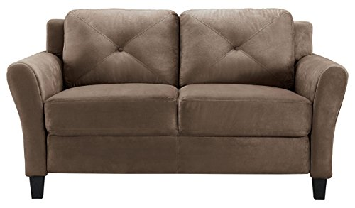 LifeStyle Solutions Harrington Loveseat in Brown