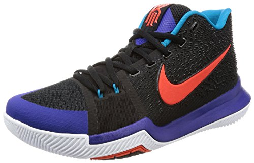 Nike Mænds Kyrie 3, Sort / Hold Orange-sammenhold