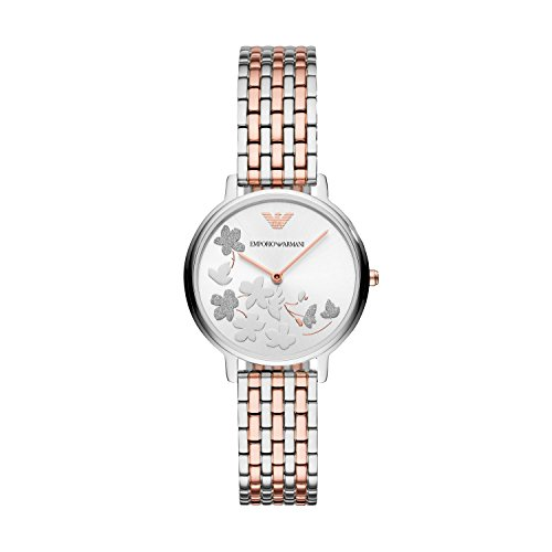 Emporio Armani Women's 'Fashion' Quartz Stainless Steel Casual Watch, Color:Rose Gold-Toned (Model: - Ladies Armani Emporio