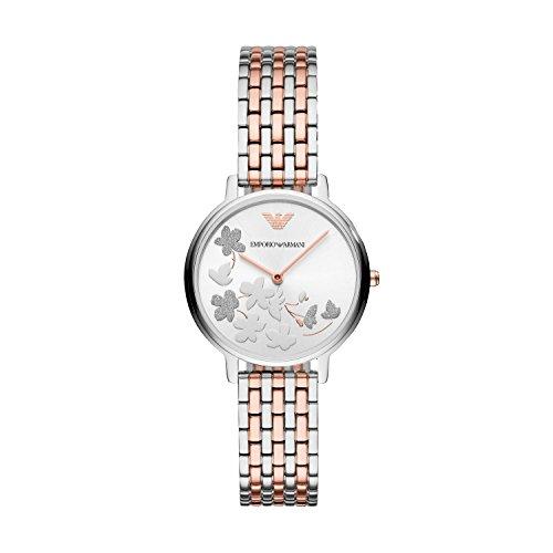 Emporio Armani Women's 'Fashion' Quartz Stainless Steel Casual Watch, Color:Rose Gold-Toned (Model: - Armani Ladies Emporio