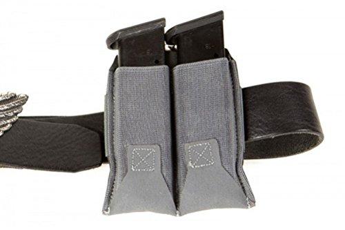 Blue Force Gear Belt Mounted Ten-Speed Pistol Magazine Pouch with Adjustable Belt Loop (Wolf Grey, Double) ()