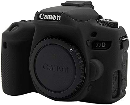 CAOMING Soft Silicone Protective Case for Canon EOS 77D Durable Color : Color1