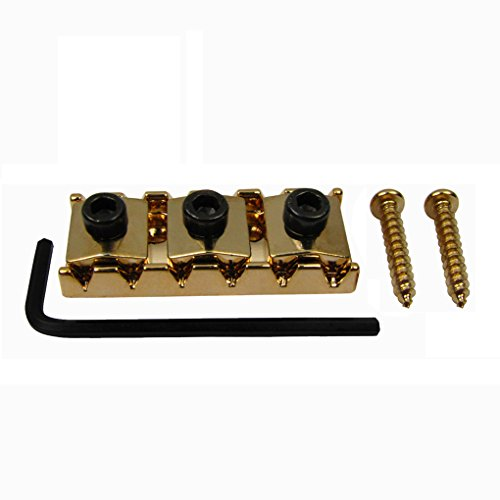 IKN Golden 42mm Guitar Metal String Lock Locking Nut for Tremolo Bridge Electric Guitar Double Lock System ()