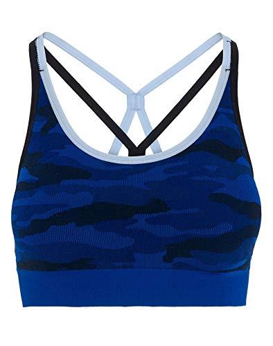 Champion Women's The Camo Strappy Bra Surf The Web (Blue Camouflage Bras)