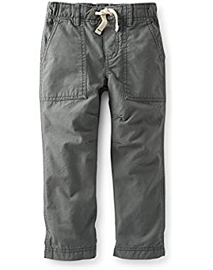 Carter's Boy's Charcoal Grey Ripstop Pants (6 Months)