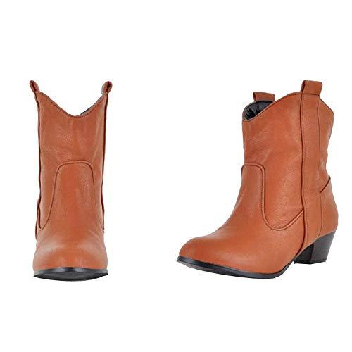 Scarpa Con Giallo Tacco Stivaletti Classici Scarpe Stivali Donne Boot Martin Inverno Pelle Moda Basso Stivali Moda Caviglia Caviglia Impermeabile Casuale Italily Stivali Spessore EqxBIw8HF