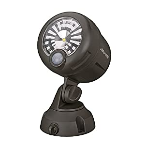 Mr. Beams MB360XT Wireless Battery Operated Outdoor Motion Sensor Activated 200 Lumen LED Spotlight, Brown, Set of 2