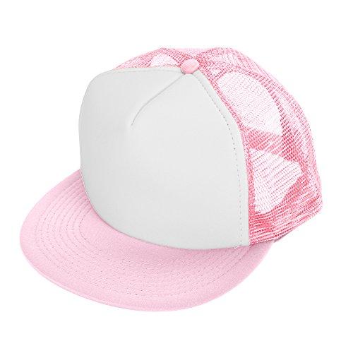 DALIX Flat Billed Trucker Cap with Mesh Back M L XL Adjustable Hat (in 14 Colors) Caps ()
